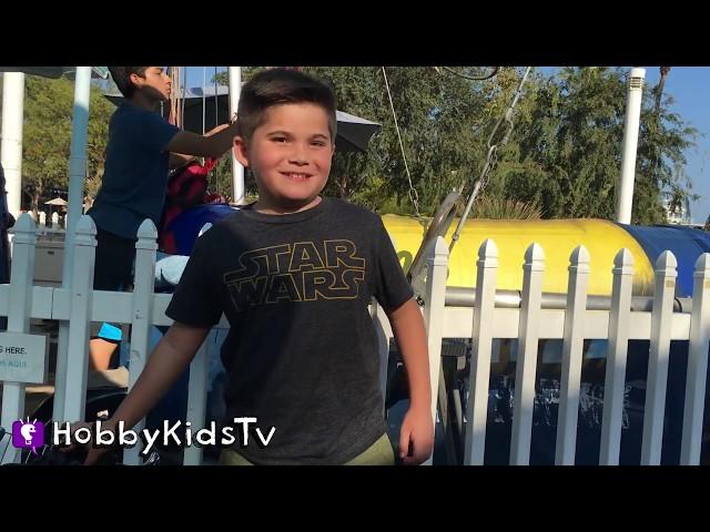 VACATION! Bungee Jumpoline + Paddle Boats n' Ferris Wheel Family Fun. Toys n' Train Ride HobbyKidsTV
