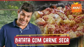 Baixar Batata assada na brasa com carne seca tostada e creme azedo defumado | Felipe Bronze | Perto do Fogo