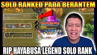 Download Video GG PADA BERANTEM SOLO RANK LEGEND HAYABUSA :( - Mobile Legend Bang Bang MP3 3GP MP4
