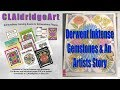 The Story of How I Became an Artist, and Coloring Gemstones with Derwent Inktense Pencils