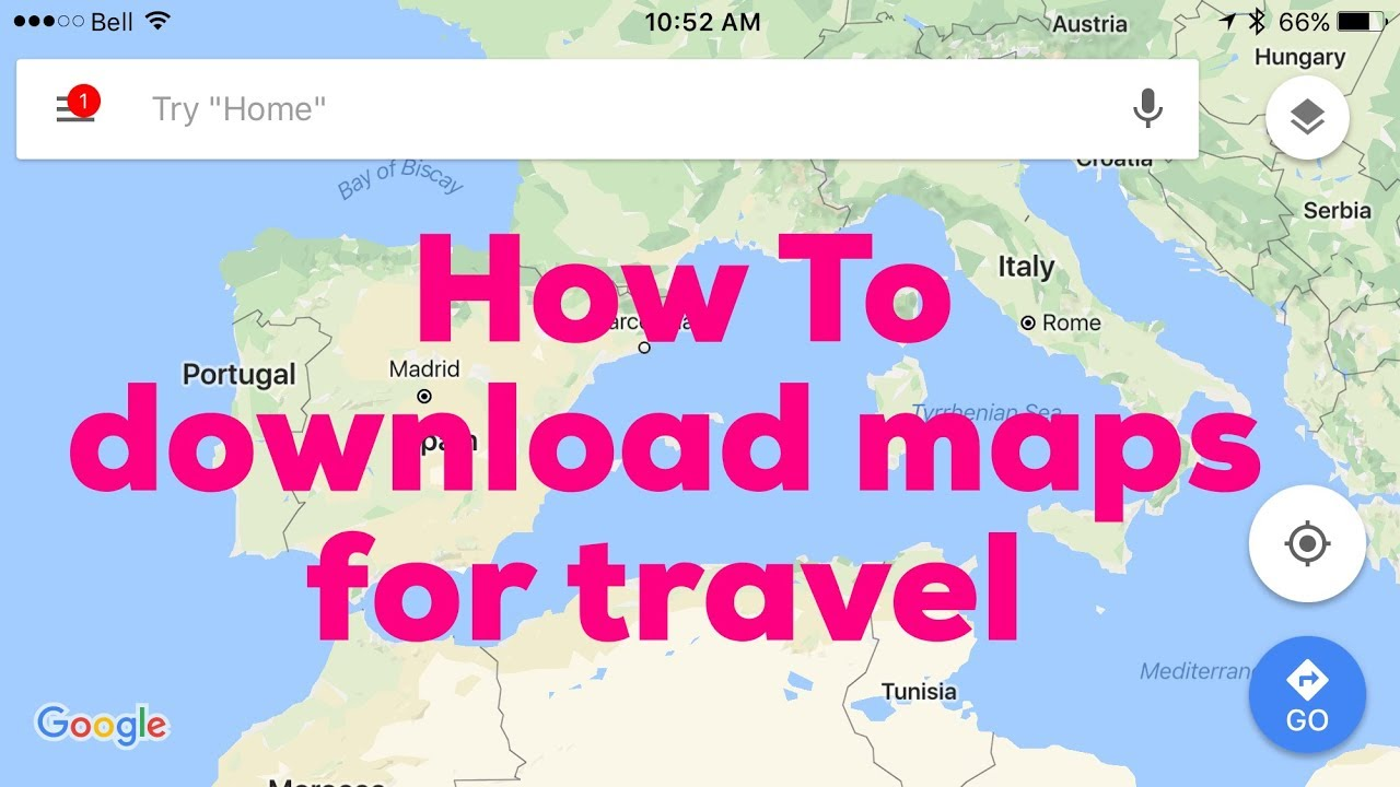 How To Download Google Maps for offline use - YouTube Download For Google Map on