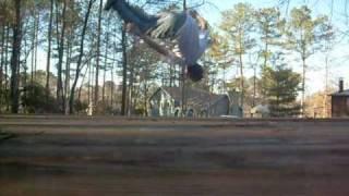 front flip, side flip, front flip 180 tutorial