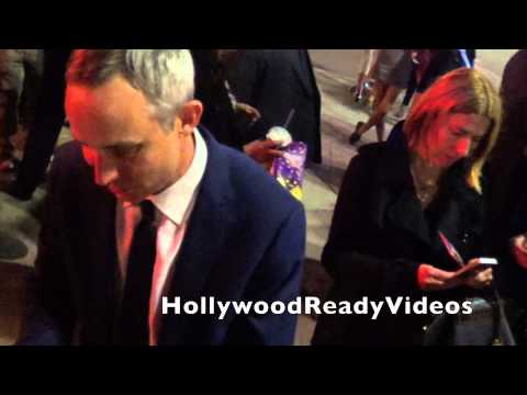 Wallace Langham s love to  departing the Draft Day premiere in Westwood