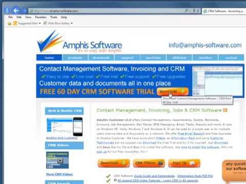 Download Install And Configure Crm Software In Minutes Including Creating And Importing
