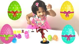 Easter Eggs Surprise and find superheroes. Family funny game for kids with Sefu Play Time❤️👍😀