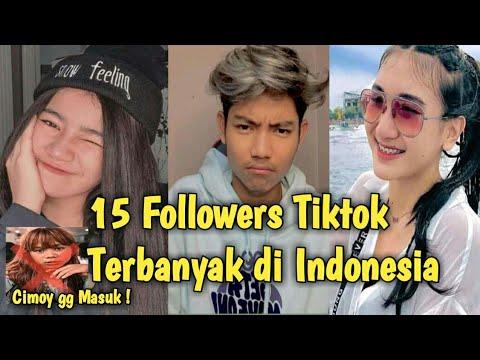 15 Followers Tiktok Terbanyak Di Indonesia Terbaru 2021