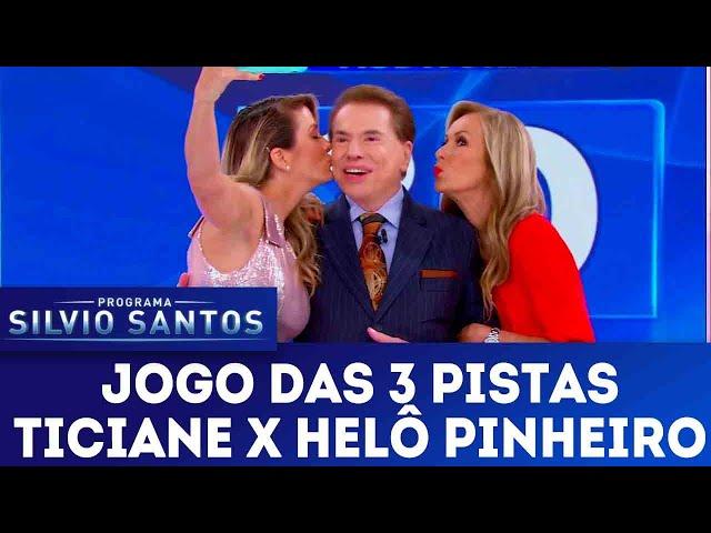 Jogo das 3 Pistas - Ticiane Pinheiro X Helô Pinheiro | Programa Silvio Santos (17/02/19)