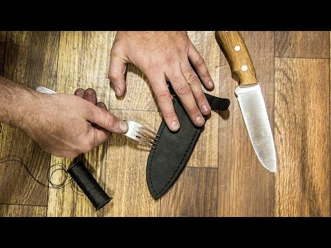 Делаем ножны для ножа своими руками видео