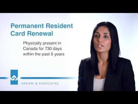 Permanent Residence PR Card Renewal