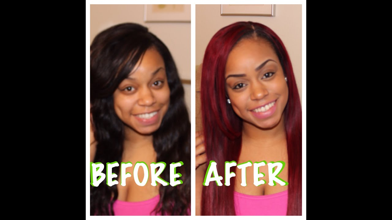How I Got My Hair Red Magenta Youtube