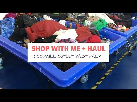 Shop With Me + Haul: West Palm Beach Goodwill Clearance Center