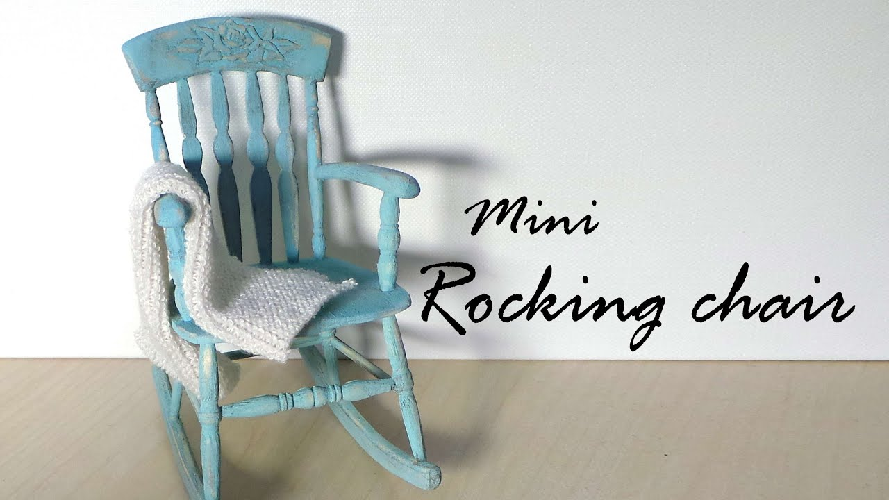 Miniature Furniture; Rocking Chair Tutorial Dolls/Dollhouse . Full resolution‎  snapshot, nominally Width 3000 Height 1688 pixels, snapshot with #487B83.