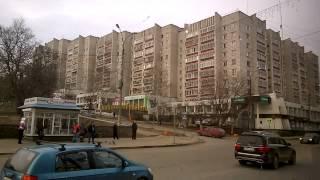 Город Киров из окна автобуса 21 автобусный маршрут 15 апреля 2015 года Макарьевская дамба Красный хи