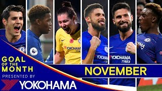 GOAL OF THE MONTH | November | Morata, Wakely, Backmann, Giroud, Hudson-Odoi