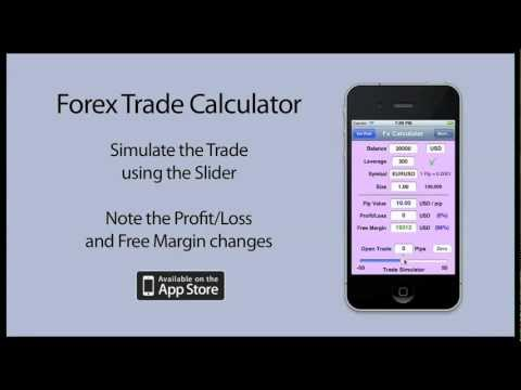 Forex Trade Calculator - iPhone App