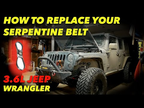 HOW TO REPLACE A SERPENTINE BELT // JEEP WRANGLER