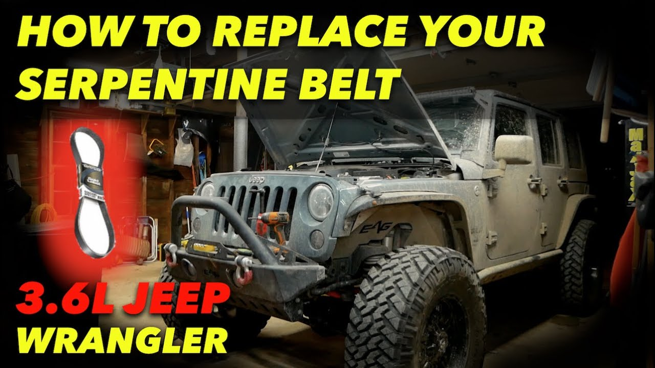 How To Replace A Serpentine Belt Jeep Wrangler Youtube