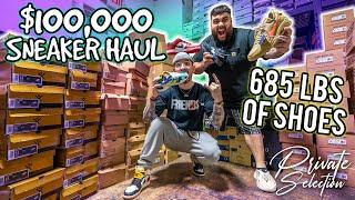 $100,000 SNEAKER HAUL *685 POUNDS OF YEEZY, JORDAN, OFF-WHITE*