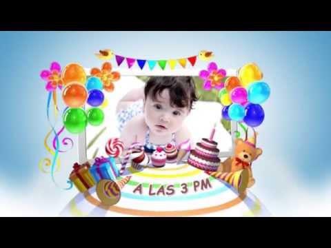 Invitacion Virtual de Cumpleaños - Mi Pequeño Mundo