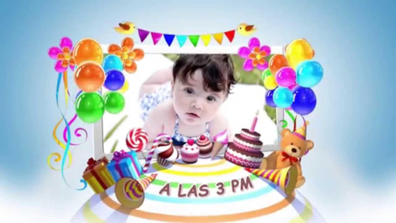 Invitacion Virtual de Cumpleaños Mi Pequeño Mundo YouTube