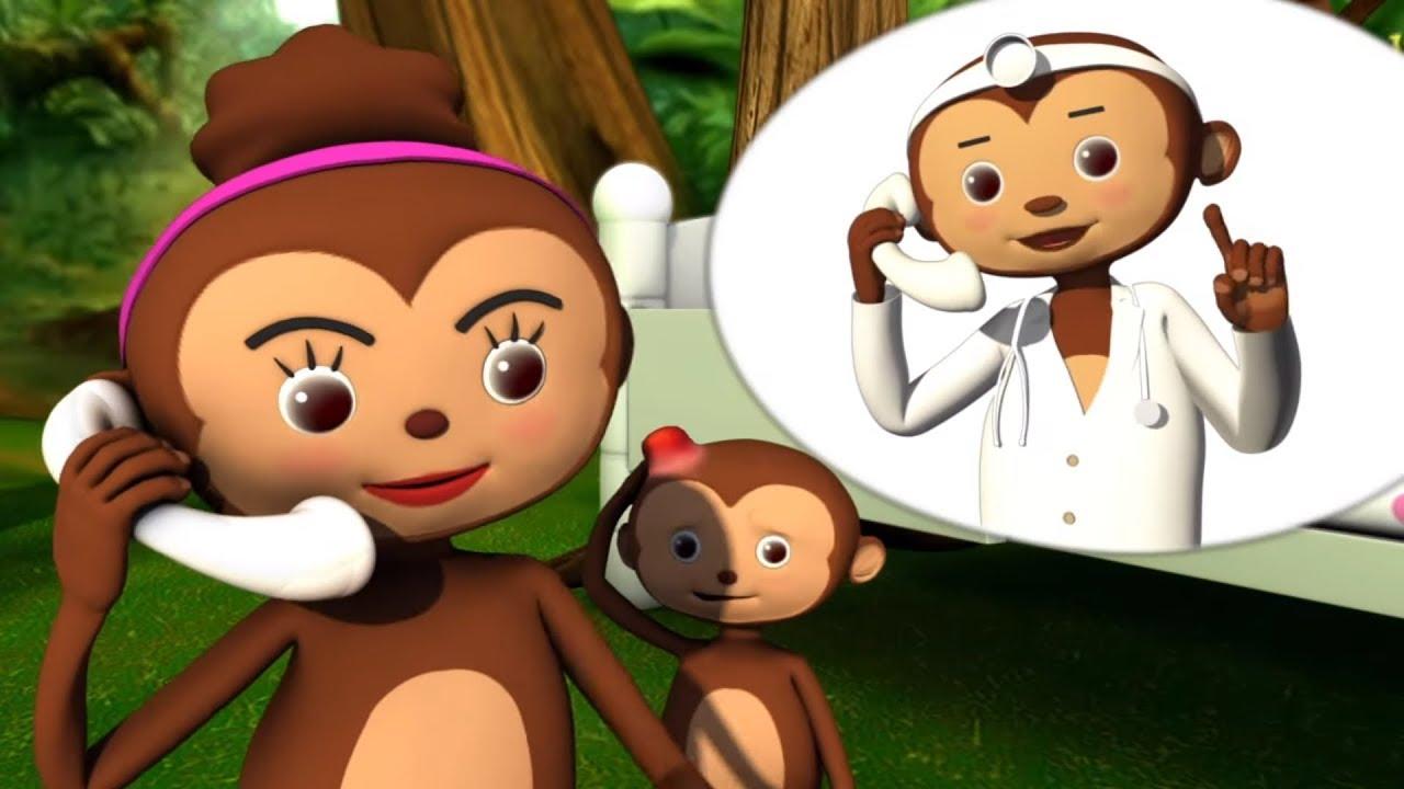 Учимся считать с обезьянками - Детские песни - Музыкальные мультики Литл Бэйби Бам