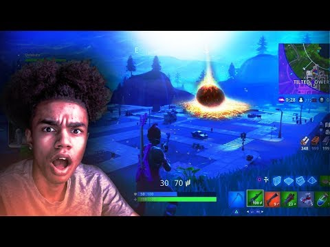 METEOR FINALLY HITS TILTED TOWERS on FORTNITE 😨 TITLED FINALLY GONE
