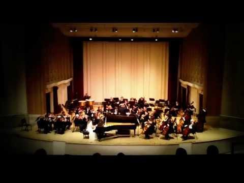 Mozart piano concerto No.20 in d minor,K.466-- Elaine Liu