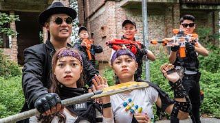 LTT Game Nerf War : Warriors SEAL X Nerf Guns Fight Braum Crazy Catch Criminals Breaking In