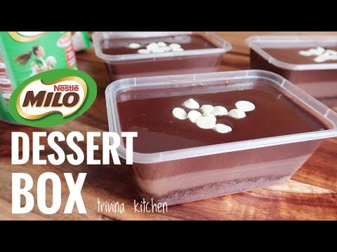 MILO COKLAT DESSERT BOX | MUDAH EKONOMIS | Trivina Kitchen