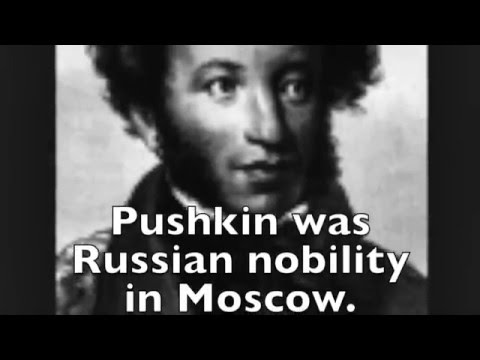 BLACK LIKE Alexander Pushkin, founder of Russian literature