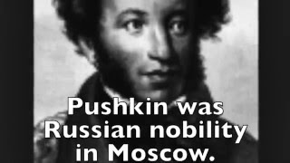 BLACK LIKE Alexander Pushkin, founder of Russian literature