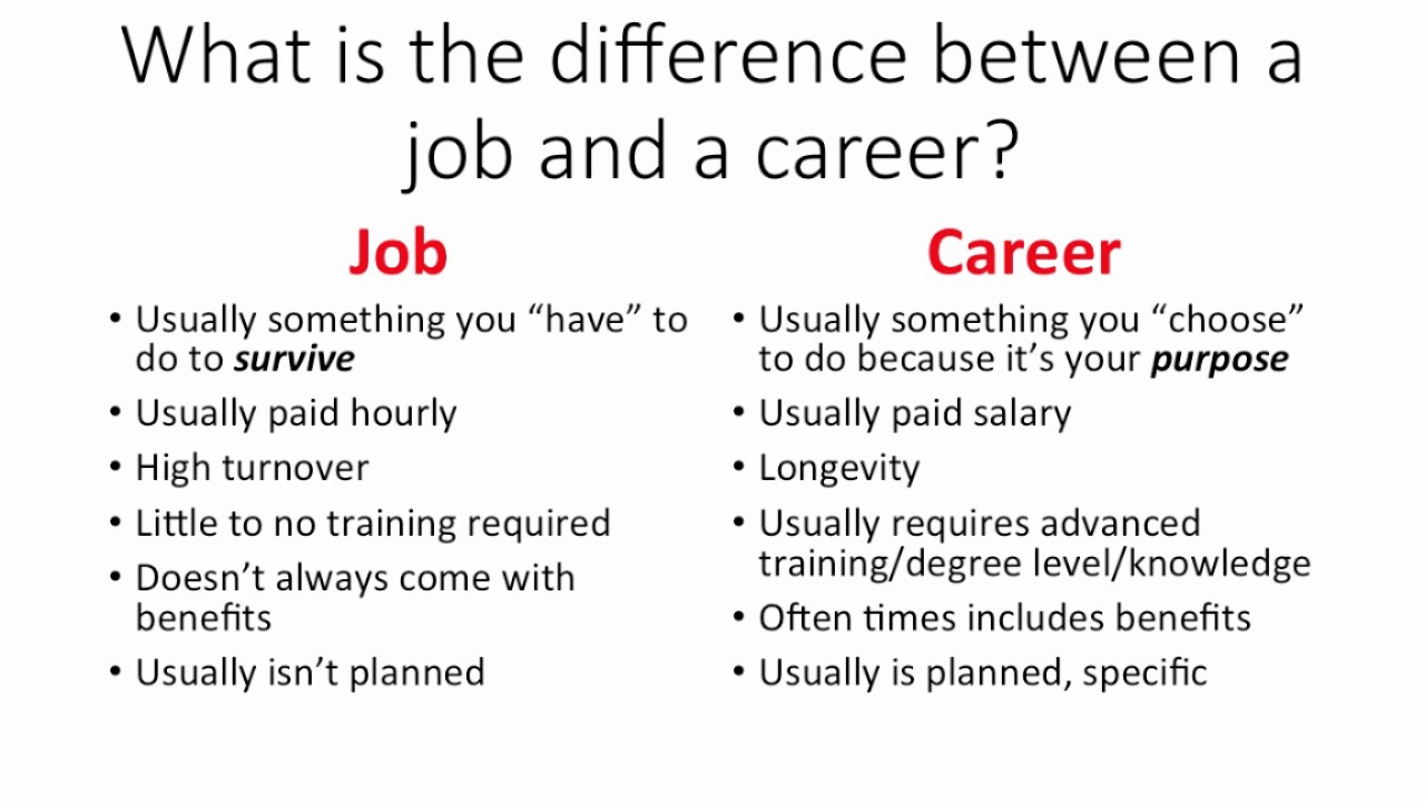 job vs career
