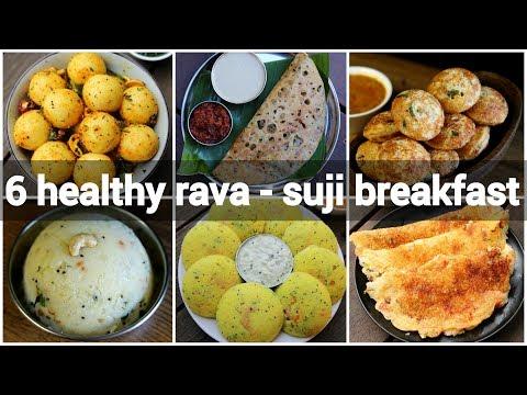 6 Healthy Rava Breakfast Recipes   Sooji Breakfast Recipes   सूजी का नाश्ता कैसे बनाएं