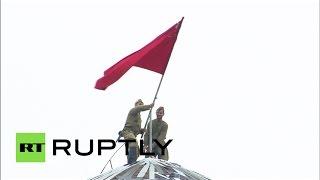 На параде Победы в Грозном «взяли Рейхстаг»