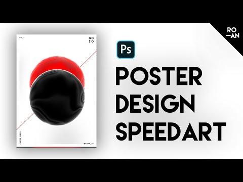 Poster Design - Dual Moon | Photoshop Speed Art