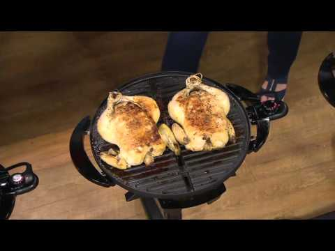 George Foreman 15 Serving Indoor/Outdoor Grill With Grill Cover On QVC