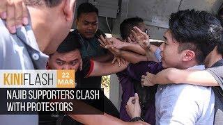 Najib supporters clash with protestors | KiniFlash - 22 Mar