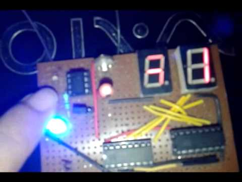 4026 manual digital counter circuit with reset