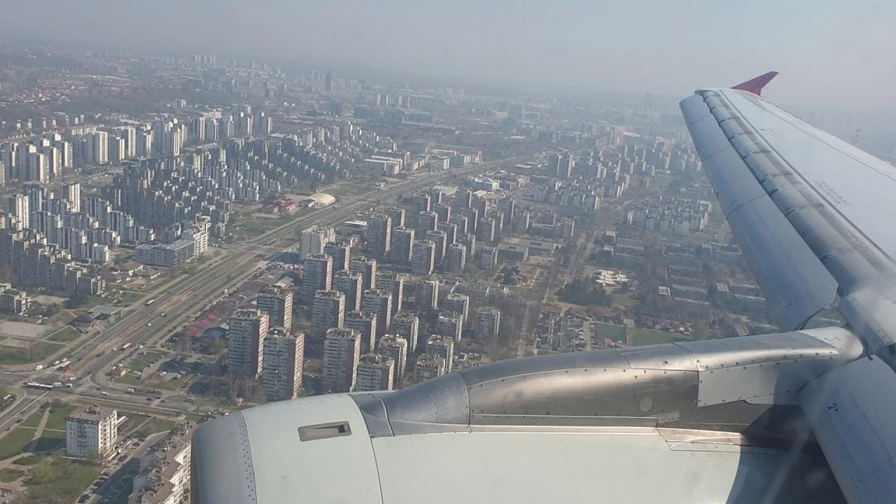 Sırbistan belgrad, beograd Nicola tesla havaalanı iniş