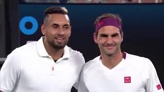 Federer vs Kyrgios at Rally For Relief - Australian Open 2020 Full Highlight