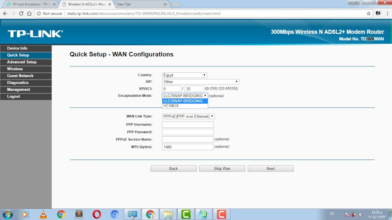كيفية ضبط اعدادات راوتر Tp Link Model Td W8960n Blue Gray Youtube