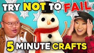 5 Minute Holiday Craft Challenge | Try Not To Fail