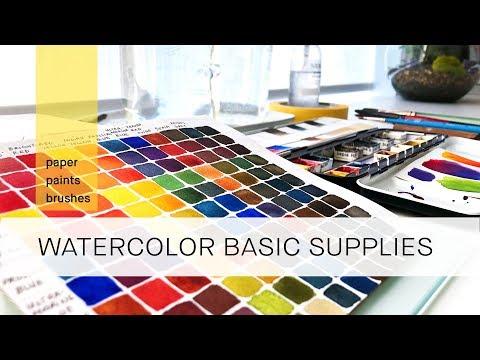 basic watercolor supplies