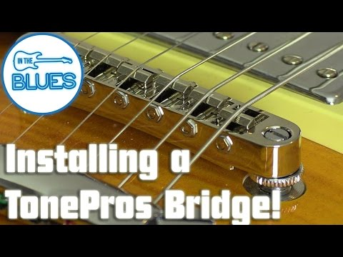 Replacing a dodgy Bridge on a Les Paul with a TonePros T3BT