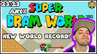 Super Dram World *NEW* World Record Speedrun 23:13 (Super Mario World Romhack)