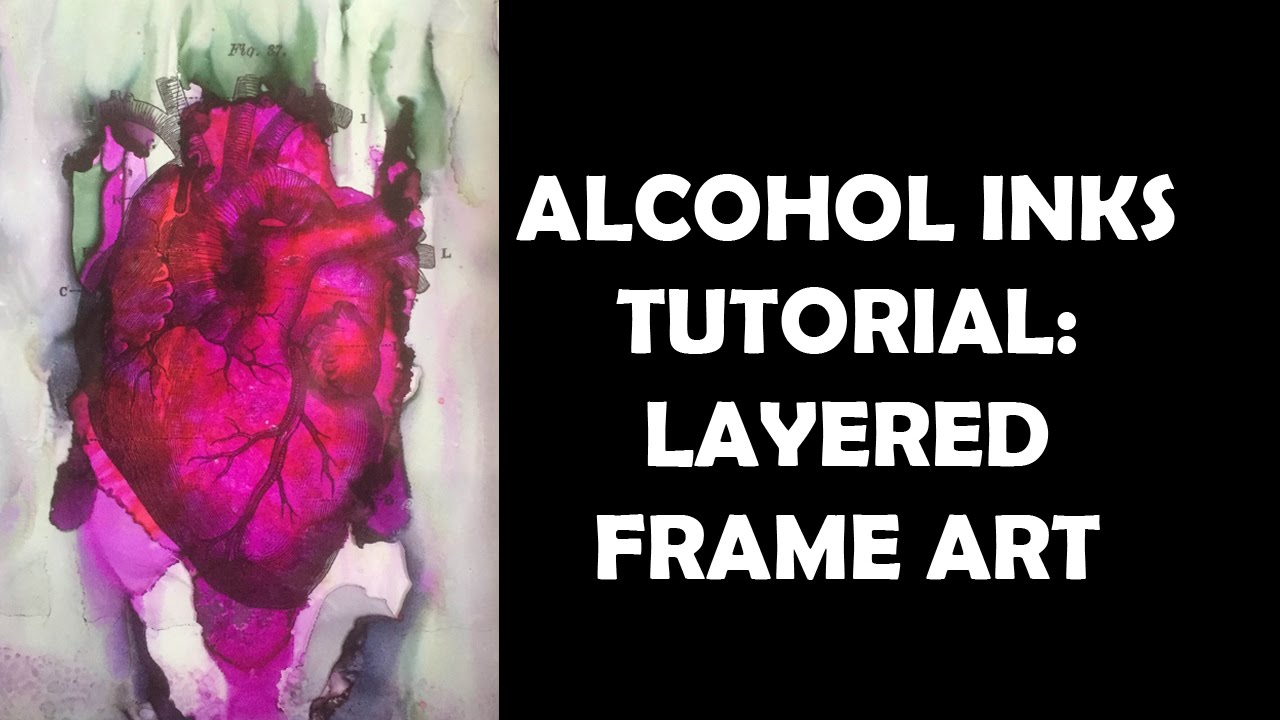 Alcohol inks tutorial layered frame art youtube baditri Images