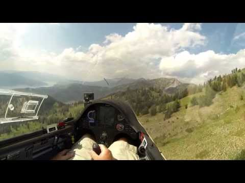 Glider Pilot Shooting Through Gaps in Salt River Mountains