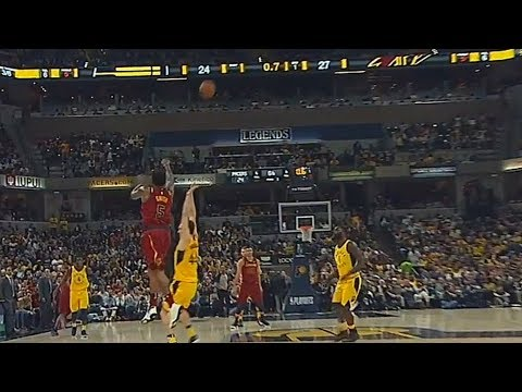 JR Smith Shocks Pacers Crowd With Full Court Shot Buzzer Beater and Brings Them To Their Feet!
