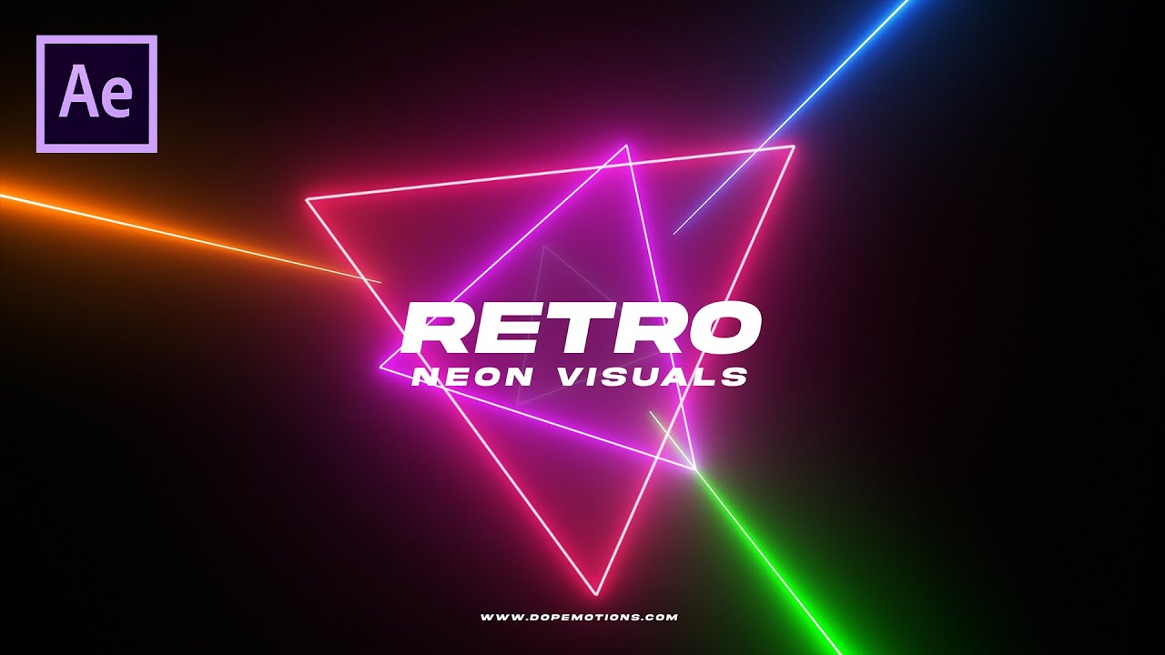 Retro Neon Visual Motion Graphics in After Effects with Saber (Free Plugin)