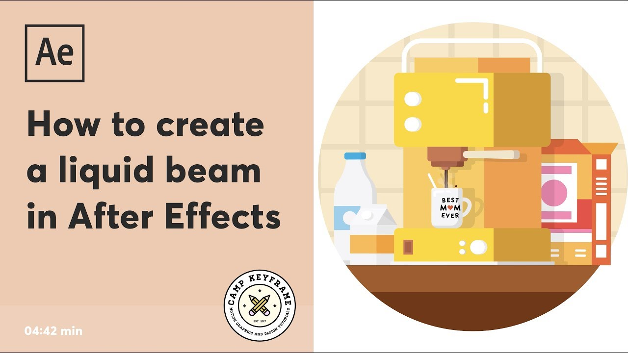 After Effects Tutorial - A liquid beam of coffee